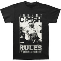Johnny Cash Men's  Rules T-shirt Black Rockabilia