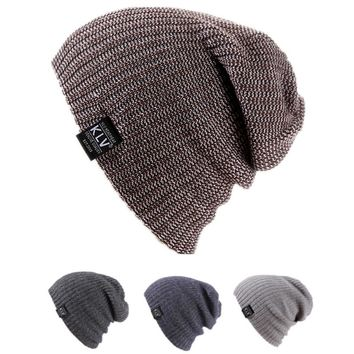 Unisex Women Men Winter Baggy Beanie Knit Crochet Oversized Hat Slouch Ski Cap