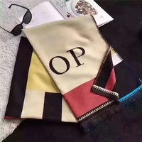 """Buberry"" OP Unisex Fashion Classic  Multicolor Letter Cashmere Scarf Couple Shawl"