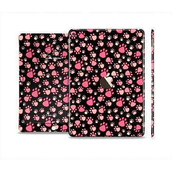 The Cut Pink Paw Prints Skin Set for the Apple iPad Air 2