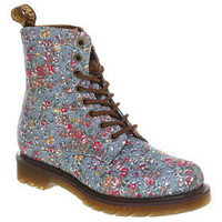 Dr. Martens - 8 EYELET LACE UP BT BLUE FLORAL