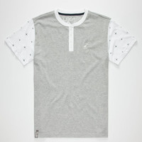 Lrg Rc Two Mens Henley Grey  In Sizes