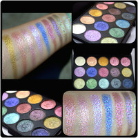 15 pressed Duochrome Multidimensional intense foiled 26mm pan size eyeshadow palette.TAKING PREORDERS