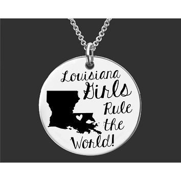 Louisiana Girls Necklace | Louisiana State