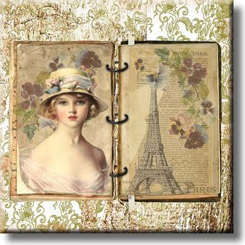 Vintage Paris Picture on Stretched Canvas, Wall Art Décor, Ready to Hang