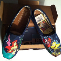 Hand Painted Disney The Little Mermaid TOMS by MrEartdesigns