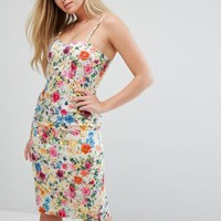 QED London Floral Cami Dress at asos.com