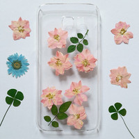 iPhone 6 Phone cover, iphone 6s case, iPhone 5c Case, iPhone 5s Case, iPhone 6 Plus Cover, Galaxy S6 edge Case, pressed flower iPhone Case