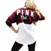 Gagaopt 2016 Autumn New Women Hoodies Brand Bts VS Pink Print Hoodie Frenchterry Sweatshirts Fashion Harajuku Tracksuit Tops