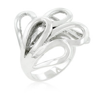 Silvertone Loop Fashion Ring