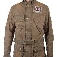 BARBOURTRIUMPH INTERNATIONAL LEGEND WAX JACKET - BROWN