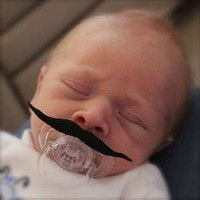 Mustache Pacifier Movie Star Style .. on Luulla