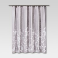 Floral Print Shower Curtain Gray - Project 62™