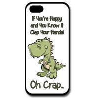 TRex Phone Case, iPhone Case, Samsung Galaxy Case, Custom Phone Case, Dinosaur Phone Case, If Your Happy, Personalized Phone