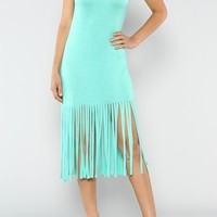Embroidery Fringe Dress