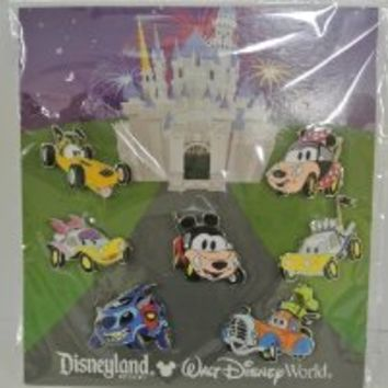 DISNEY BOOSTER PINS - Mickey and friends character cars set of 7 pins