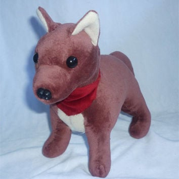 Standing Dog plush - SEWING PATTERN from CyanFoxDesigns on Etsy