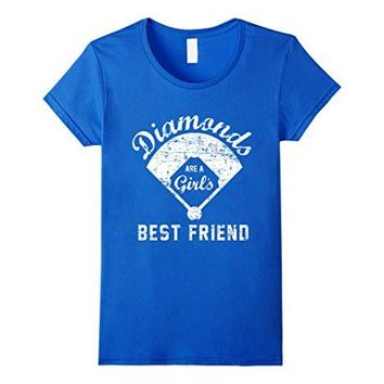Diamonds Are A Girl's Best Friend T Shirt, Softball Mom Gift