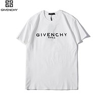 Givenchy 2019 new tide brand classic printing men and women round neck short-sleeved T-shirt White