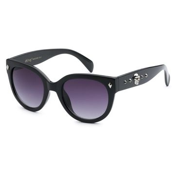 Black Skull and Stud Detail Sunglasses