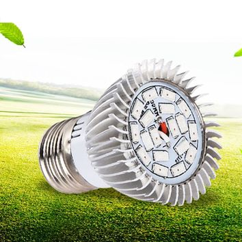 Full spectrum Grow light - Hapeisy 50,000 hour E27 LED bulb - Perfect for growing indoor plants, flowers, and vegetables. Hydroponic friendly...