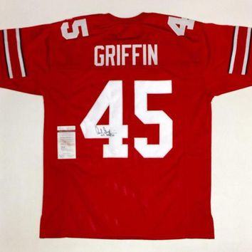 DCCKJNG Archie Griffin Signed Autographed Ohio State Buckeyes Football Jersey (JSA COA)