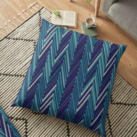 'Abstract Chevron II' Floor Pillow by Creative BD