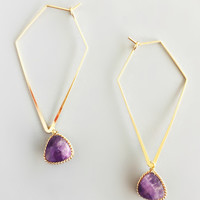 Chic Modernist Amethyst Earrings