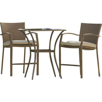 Three Posts Marathon 3 Piece Bistro Set with Cushions