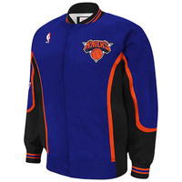 Mitchell & Ness New York Knicks Hardwood Classics Authentic Vintage Warm-Up Jacket - Royal Blue