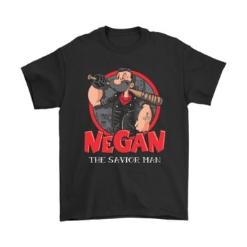 KUYOU Popeye Negan The Savior Man The Walking Dead Shirts
