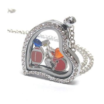Heart Charm Locket for Football Lovers