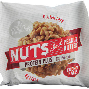Betty Lou's Nut Butter Balls - Protein Plus - Peanut Butter - 1.7 oz - 40 ct