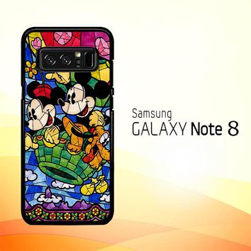 Disney Mickey & Minnie Mouse Stained Glass V0102 Samsung Galaxy Note 8 Case