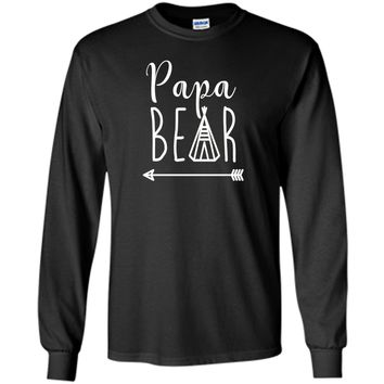Papa Bear - Indian Teepee and Arrow - T Shirt Father's day t-shirt