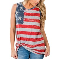 Women's American Flag Sleeveless Tank Tops
