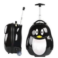 EMS Shipping Cute Penguin Figure Travel Trolley Roller Luggage Bag (Model: Zj000107)