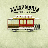 Personalized with Name Classic Vintage Style San Francisco Red Trolley Room Wall Art Print by Caramel Expressions