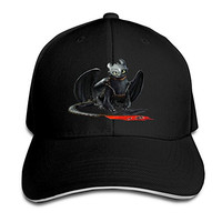 How To Train Your Dragon Adjustable Sandwich Peak Baseball Cap Hat