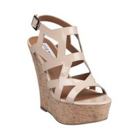 WILDCHLD FAWN PATENT women's sandal high wedge - Steve Madden