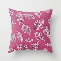 fuchsia dreams Throw Pillow by Pink Berry Patterns