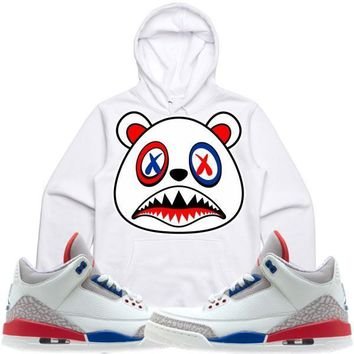 USA BAWS White Sneaker Hoodie - Jordan Retro 3 International Flight