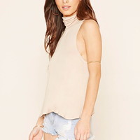 Flared Turtle Neck Top