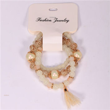 Bracelets For Women Special Offer Top Fashion Summer Style Pulseras 2017 High Quality Beads Drawing Process Bracelet Fashion