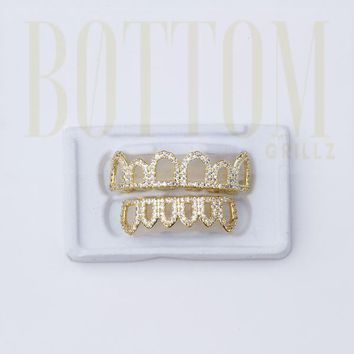 Open Face Grillz With Diamonds