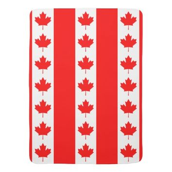 Canadian Flag of Canada Maple Leaf Swaddle Blanket