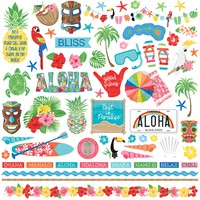 "Aloha Stickers 12""X12""-Element"