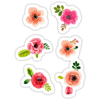 'Little Flowers' Sticker by clairechesnut