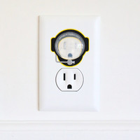 Deep Sea Diver - Electric Outlet Wall Art Sticker & Guard - Removable