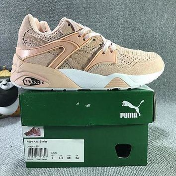 DCCKIJ2 Puma Trinomic Blaze Suede Mid-High Casual Shoes Sneaker Light Pink